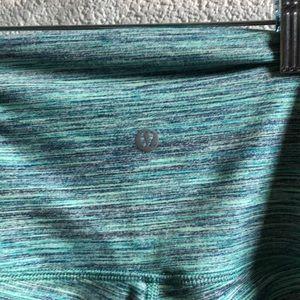lululemon athletica Pants - Lululemon green & black hi waist leggings sz 4
